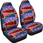 Trucker Loves Grinding Roads Ahead Car Seat Covers