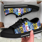 Licensed Plate Trucker Low Top Shoes