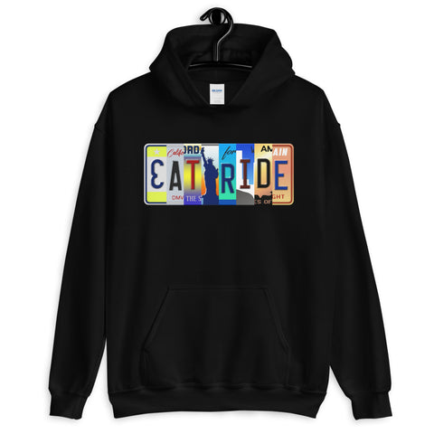 Licensed Plate Eat and Ride Hoodie