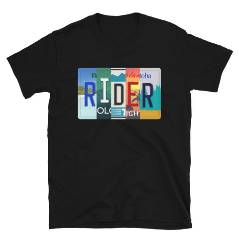Rider Licensed Plate T-Shirt
