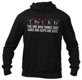 Trucker Periodic Table of the Elements Funny Quote Hoodie