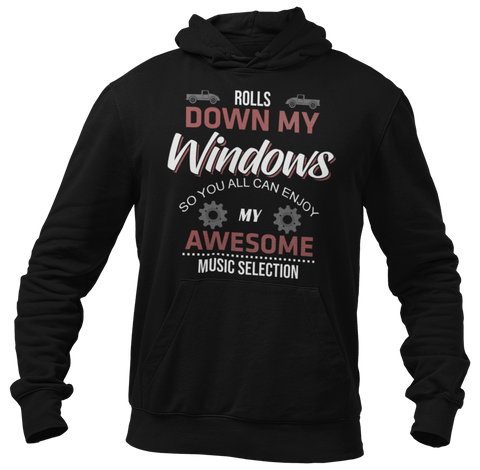 Rolls Down Windows Red Hoodie