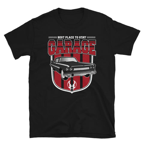 Garage Best Place To Stay Vintage Car T-Shirt