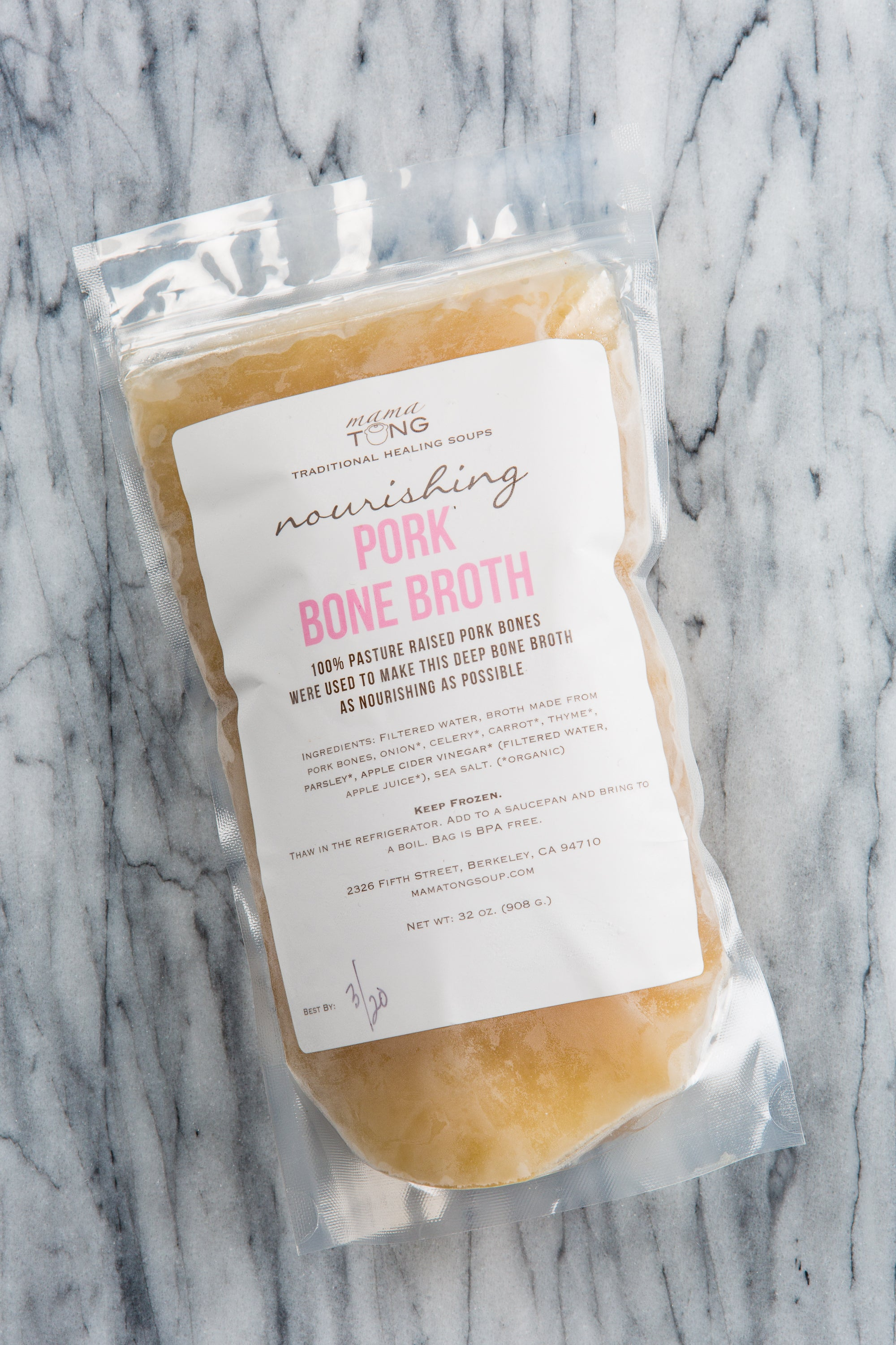 Pork Bone Broth: 32oz