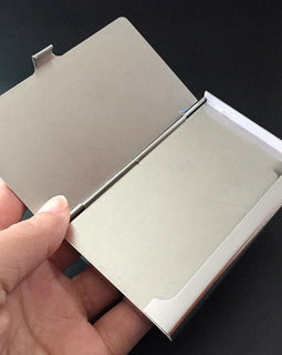 Aluminum Business Card Travel Holder