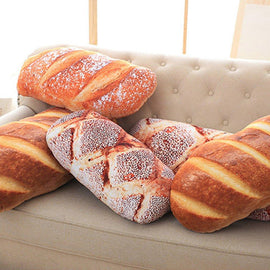 Funny Bread Airplane Pillow