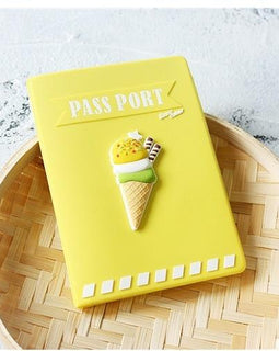 Cute Ice Cream Passport Holder