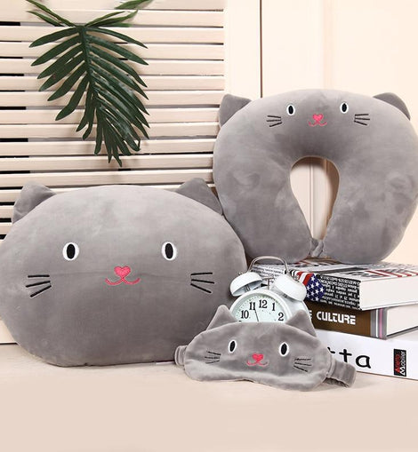 Cat Travel Pillow