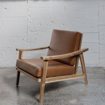 dark brown leather armchair from corcovado furniture and made in NZ furniture store ponsonby wellington christchurch homestore new zealand