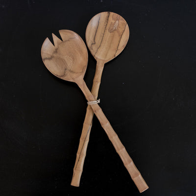 Wooden Salad Servers (bamboo)