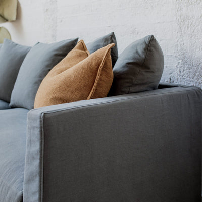 Nutmeg Linen Feather Pillow