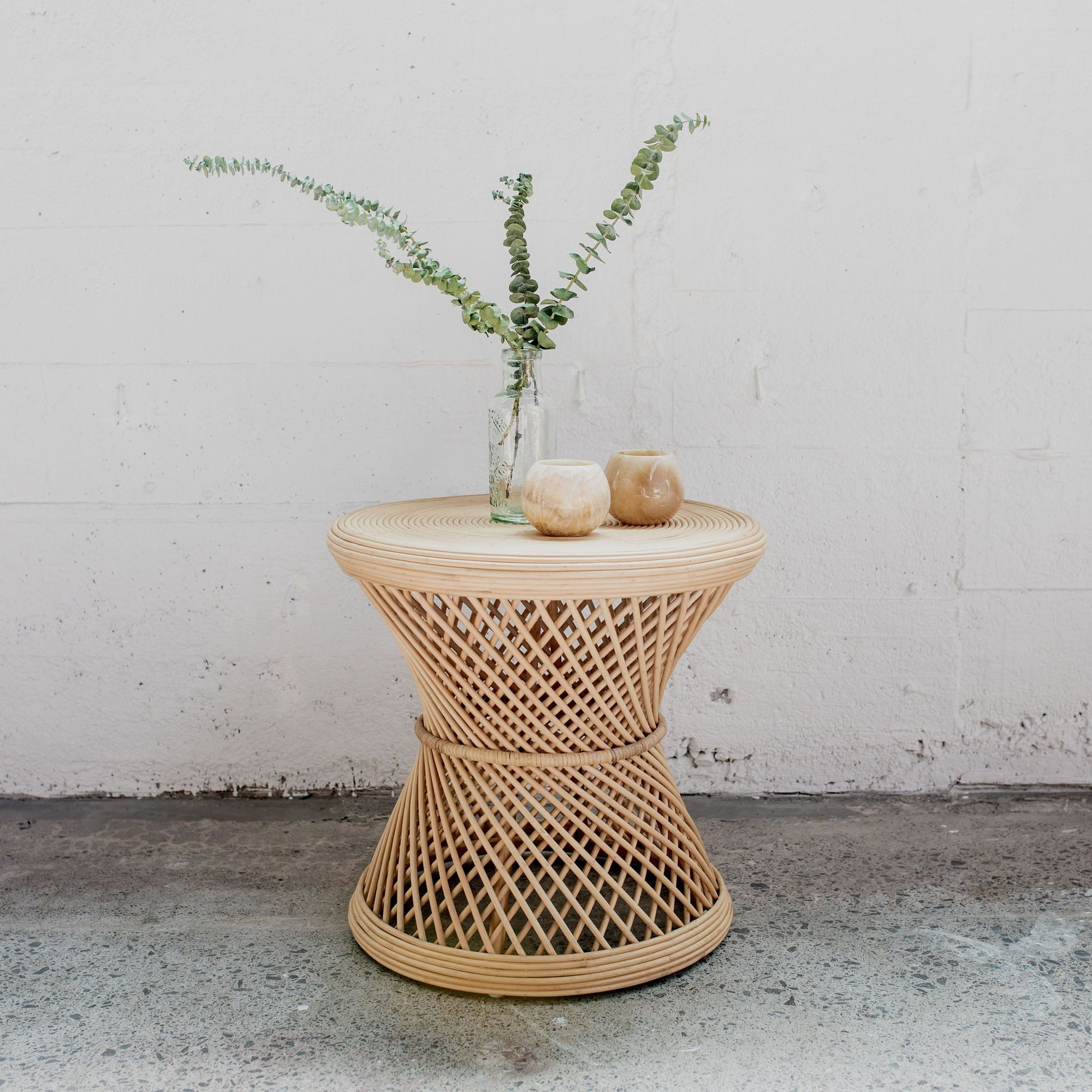 Twist Rattan Side Table
