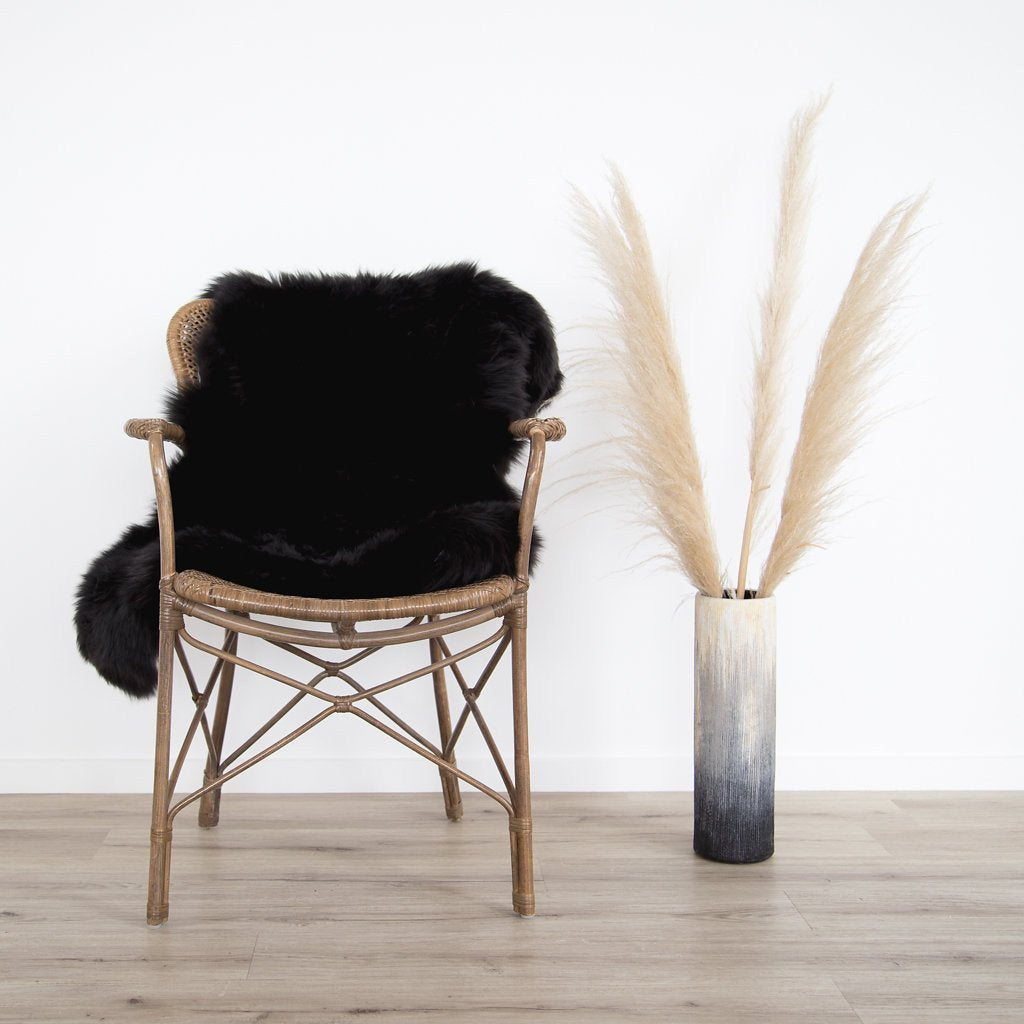 Black Authentic New Zealand Sheepskin