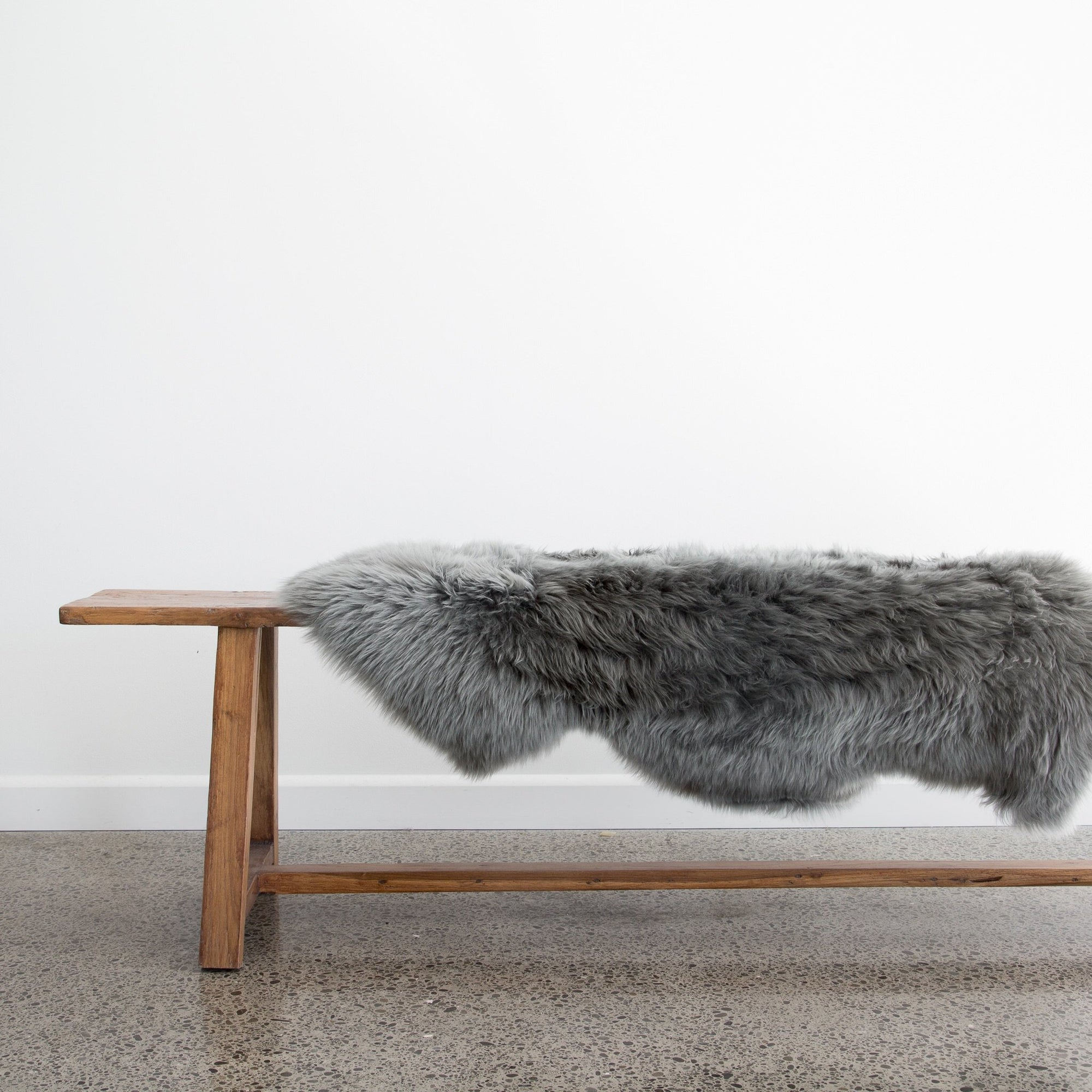 Grey Pure Wool New Zealand Sheepskin