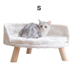 Soft Warm Cat Sofa With Wooden Legs