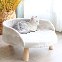 Load image into Gallery viewer, Soft Warm Cat Sofa With Wooden Legs