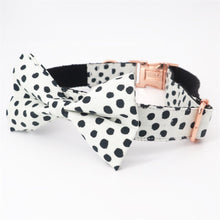 Load image into Gallery viewer, Polka Dot Dog Collar and Bow Tie Lead