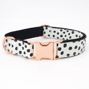 Polka Dot Dog Collar and Bow Tie Lead