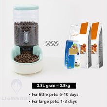Load image into Gallery viewer, 3.8L Pet Cat or Dog Automatic Food and Water Dispenser