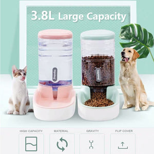 3.8L Pet Cat or Dog Automatic Food and Water Dispenser