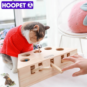 Wooden Cat Toy