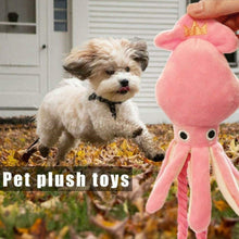 Load image into Gallery viewer, Squeaky Squid Chew Toy