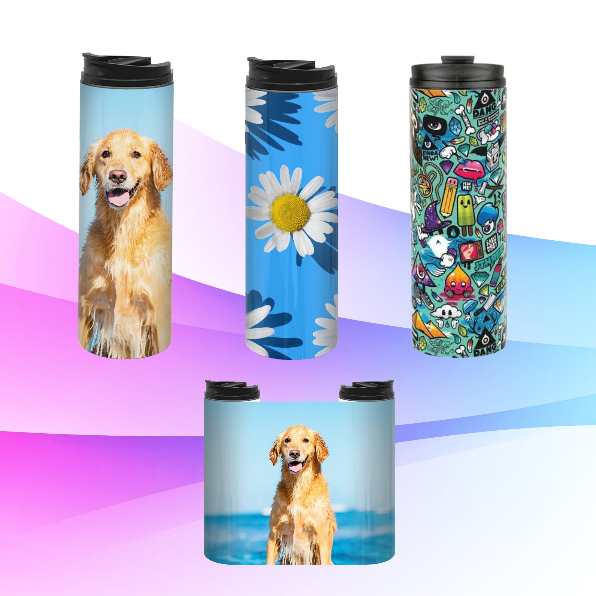 All Over Print Stainless Steel Drink Bottle (16oz) I Customized Bottles at designairpods.com