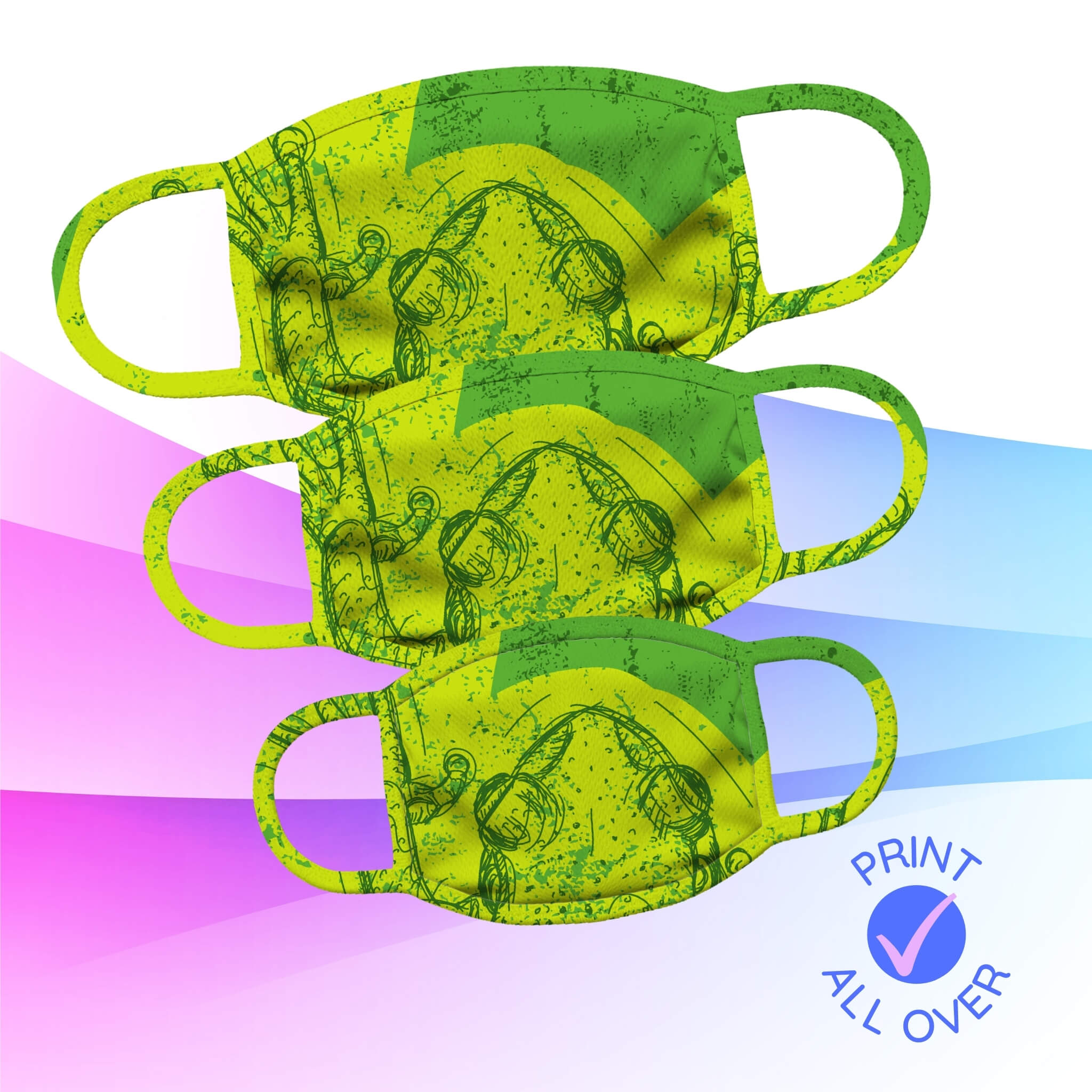 Create Your Own Face Mask I All-Over Print I New 2021 I Design AirPods
