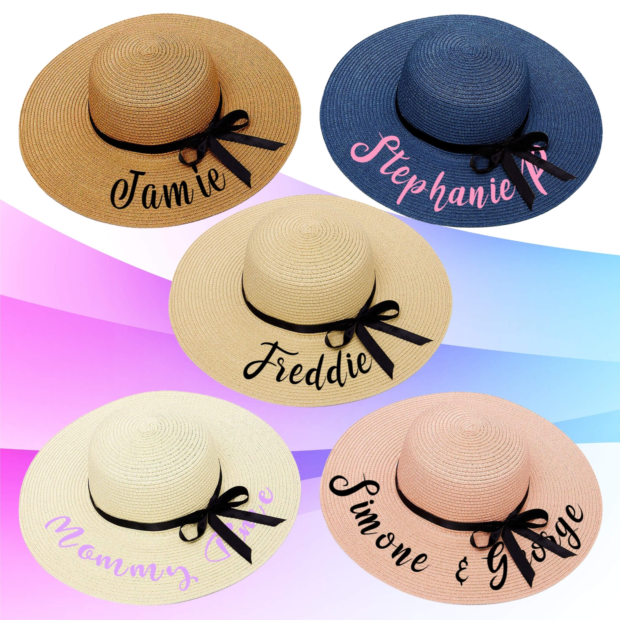 Custom Embroidered Floppy Beach Hat I Unique Summer at Design AirPods