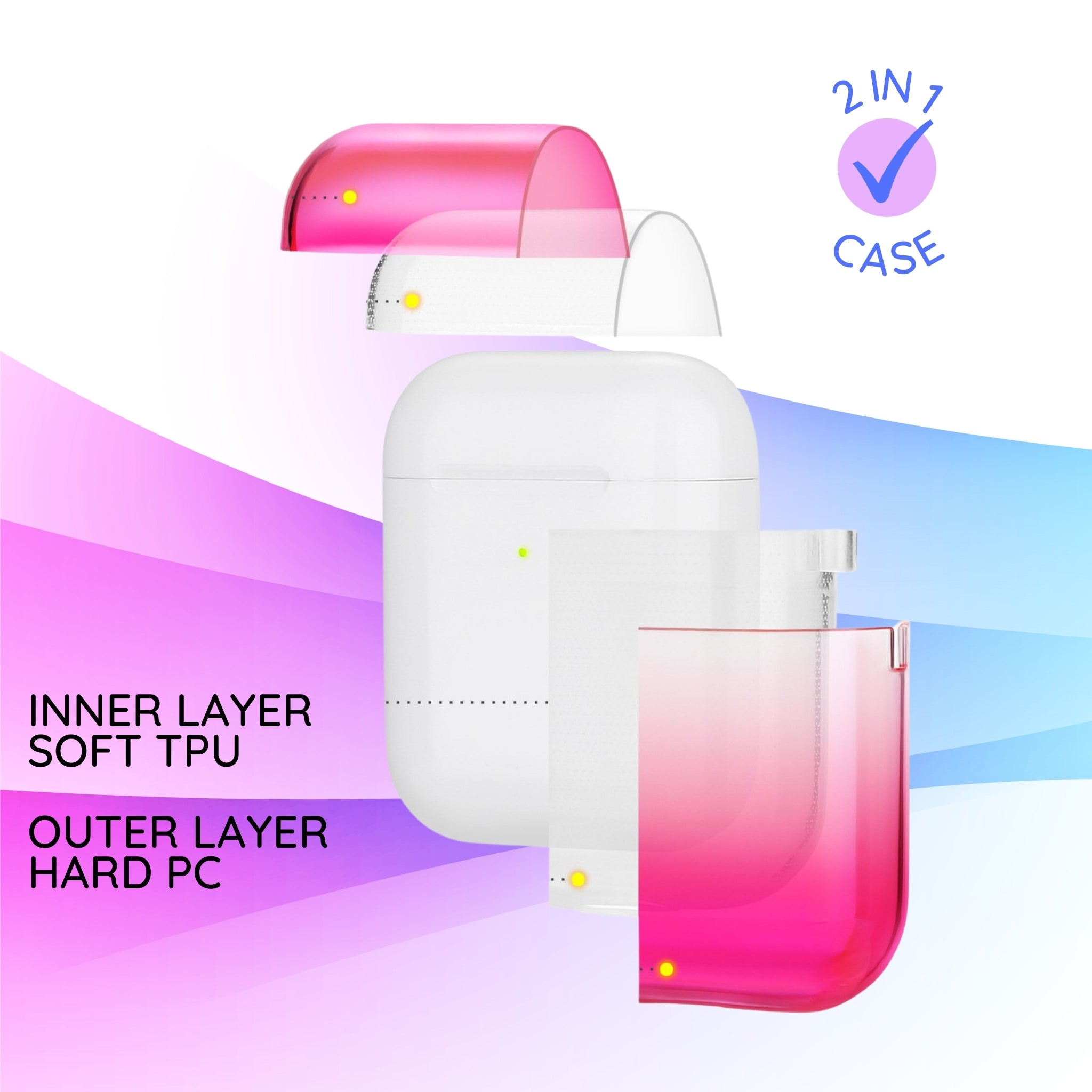 Custom Name AirPods Pro Case I Pastel Gradient I Personalized AirPods