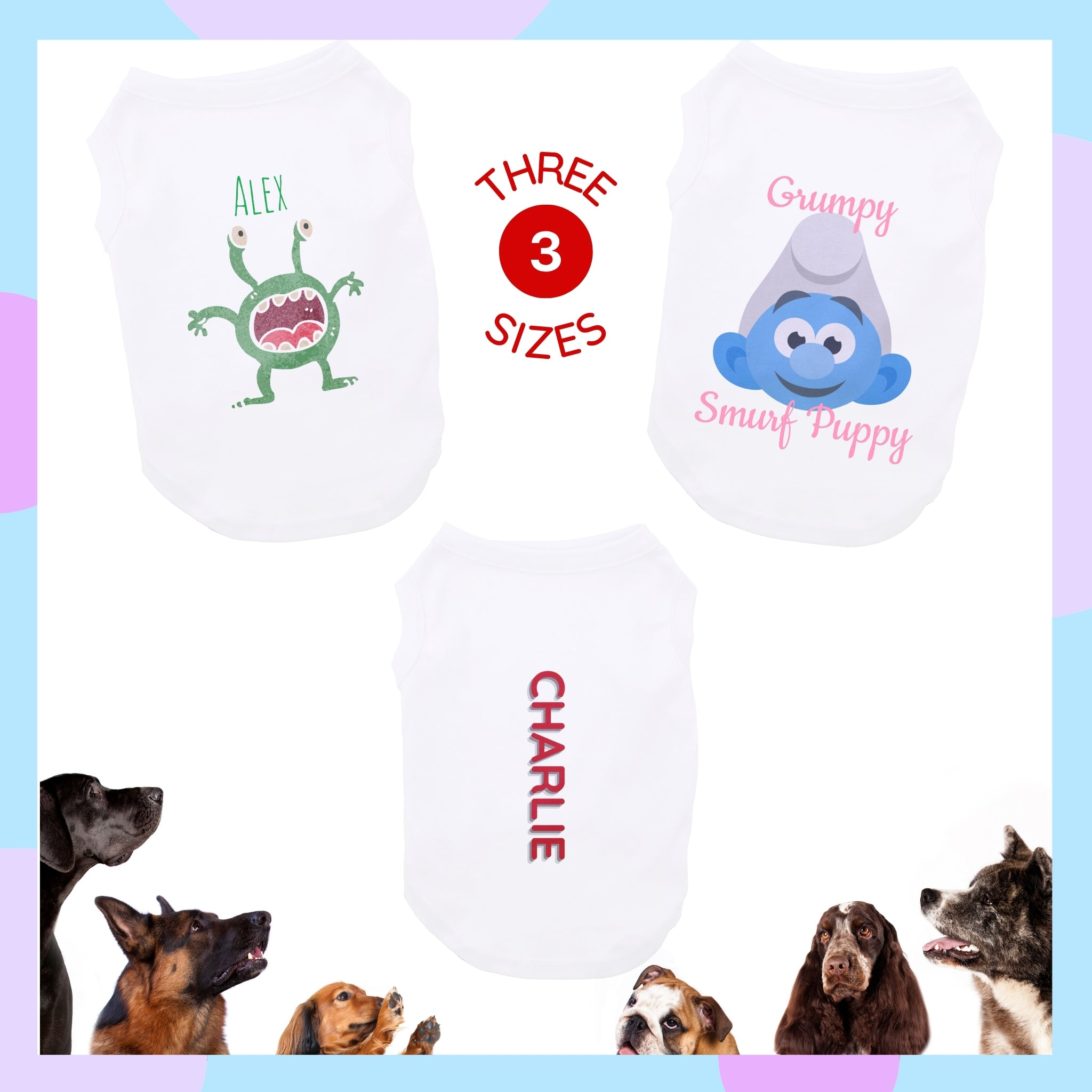 Custom Puppy Dog Tee Shirt (3 Sizes) I Design Your Own Dog T-Shirts at Design AirPods
