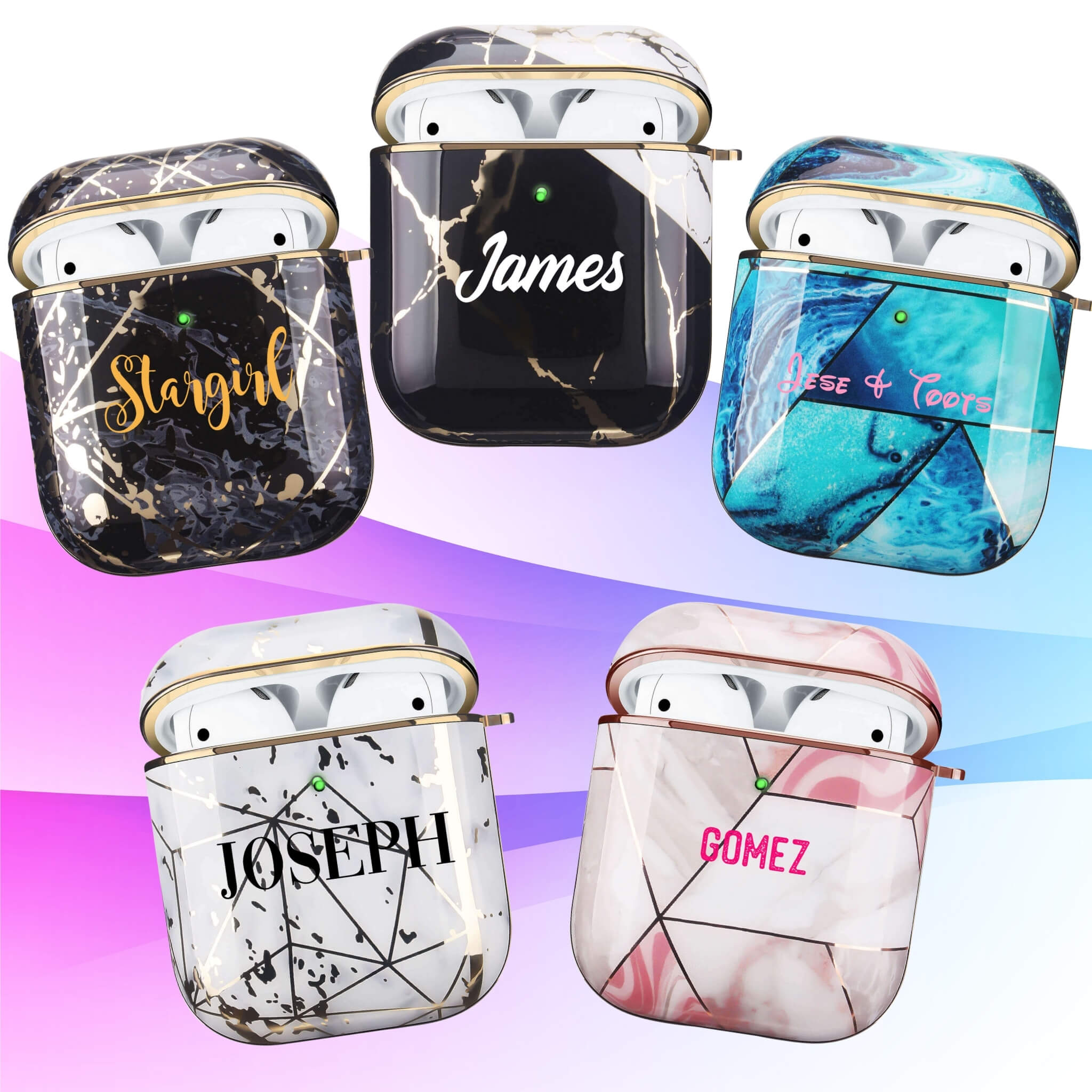 Design AirPods Cases I Electroplated Abstract I Personalized AirPods