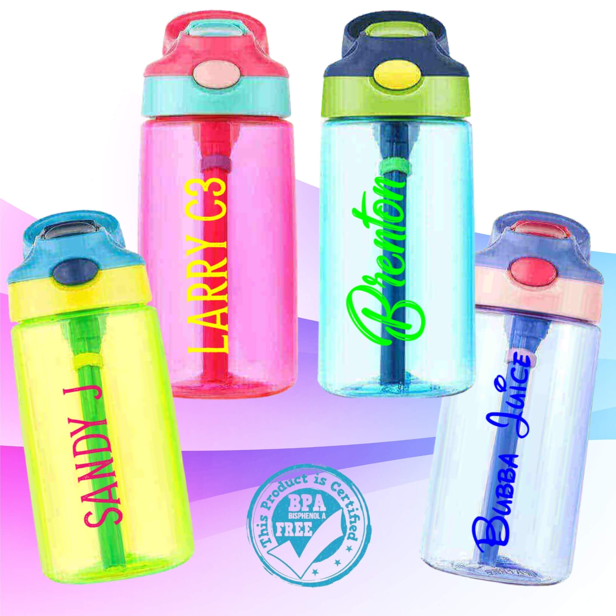 Eco Kids BPA Free Drink Bottle with Name I Design AirPods Cases