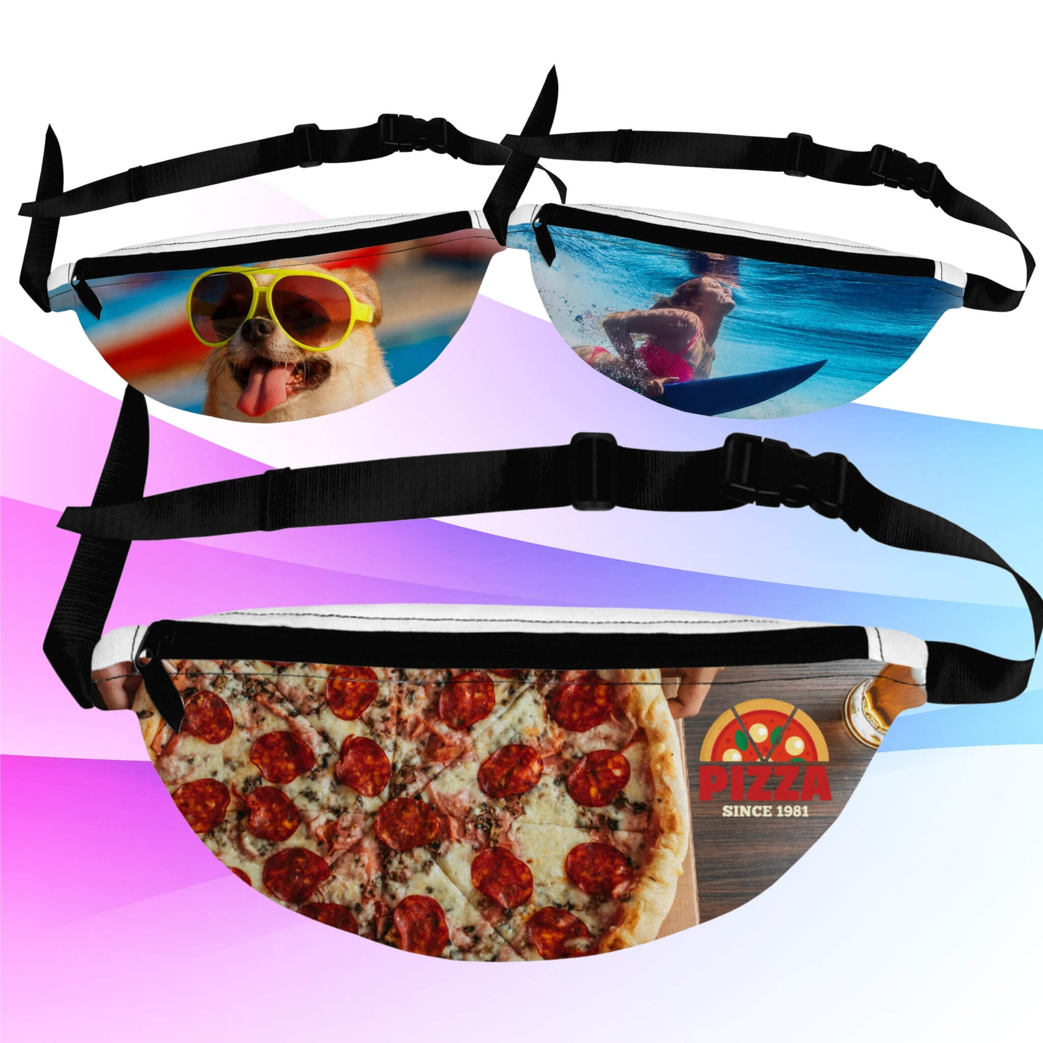 Personalized Custom Fanny Packs I Add any Image I Design AirPods