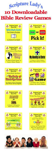 10 Bible Review Games Download Package