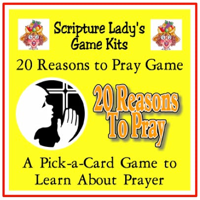 "Downloadable ""20 Reasons to Pray"" Game"