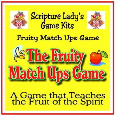 "The Scripture Lady's Downloadable ""Fruit of the Spirit"" Bible Review Game"