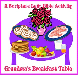 """Grandma's Breakfast Table"" - A Downloadable Bible Game for Preschoolers by The Scripture Lady"