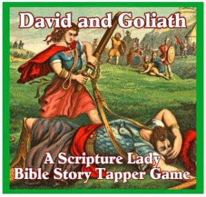 """David and Goliath Story"" - A Bible Story Tapper Game by The Scripture Lady"