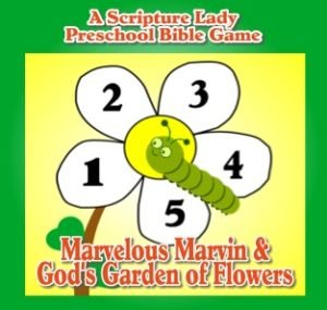 Marvelous Marvin and God's Garden of Flowers Bible Game for Preschoolers