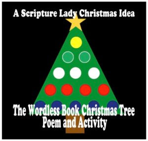 """The Wordless Book Christmas Tree"" - A Bible Holiday Poem and Activity by The Scripture Lady"