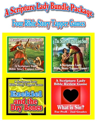 Four Bible Story Tapper Games Bundle Package