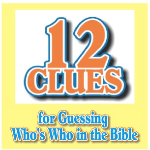 """12 Clues"" - A Downloadable Bible Review Game for Kids"