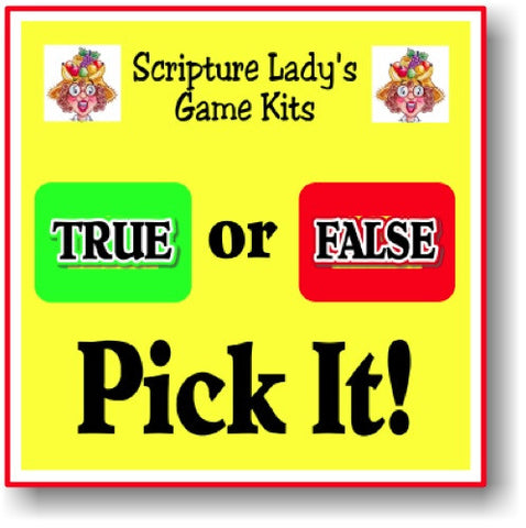 """True or False Pick It"" Game"