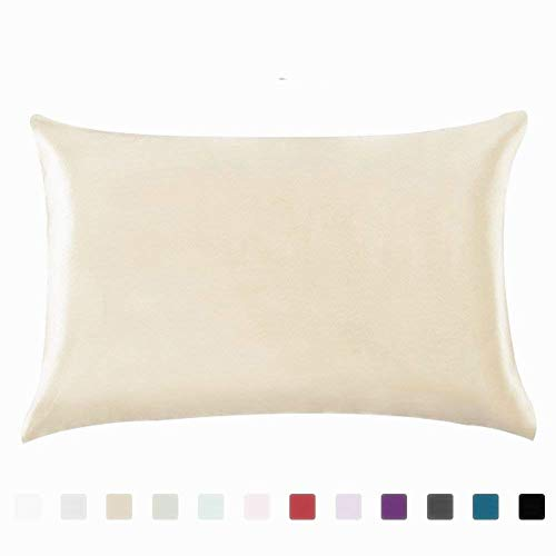 Bedding Pillowcase 100% Silky Satin Hair Beauty Standard/Queen