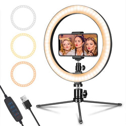 Stand Phone Holder for Live Stream/Makeup Mini Led Camera Ringlight for YouTube Video/Photography 10inch 160CM - honeylives