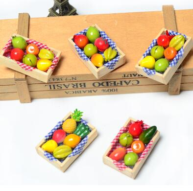 Multi-color 3D Cartoon Fruit Fridge Magnet Refrigerator Sticker Home Decorations