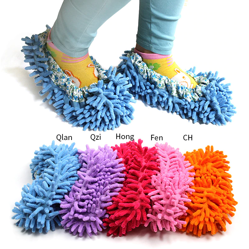 Bathroom Dust Mop Slippers Clean Broom Shoes Cover Powerful Absorbent