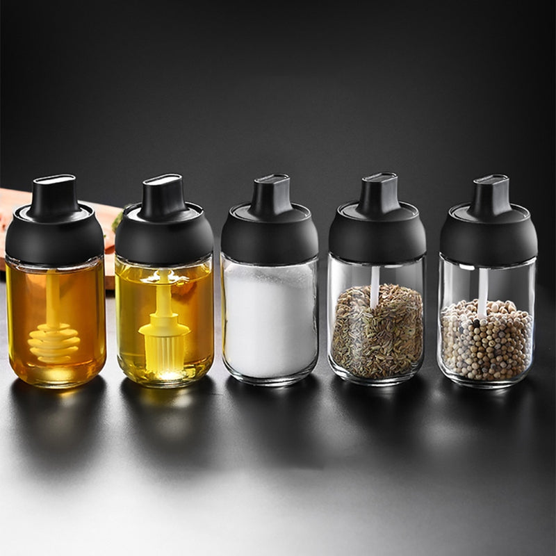 Kitchen Tableware Spice Jar Spice Bottle Salt Pepper Seasoning Container 250ML