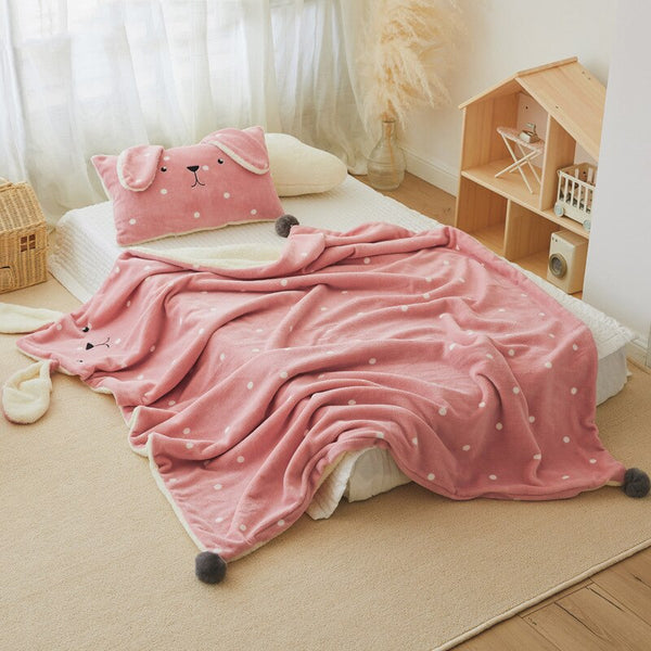 Bedding Coral Fleece Sherpa Blanket for Baby Quilt Cover Fleece Duvet